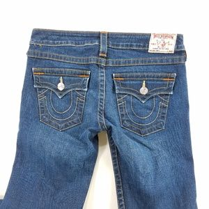 True Religion Joey Boot Cut Flare Denim Jeans